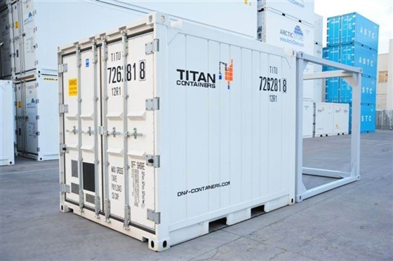 <b>10' DNV reefer with frame for 20' shipment</b>