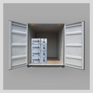 Mittlere seecontainer