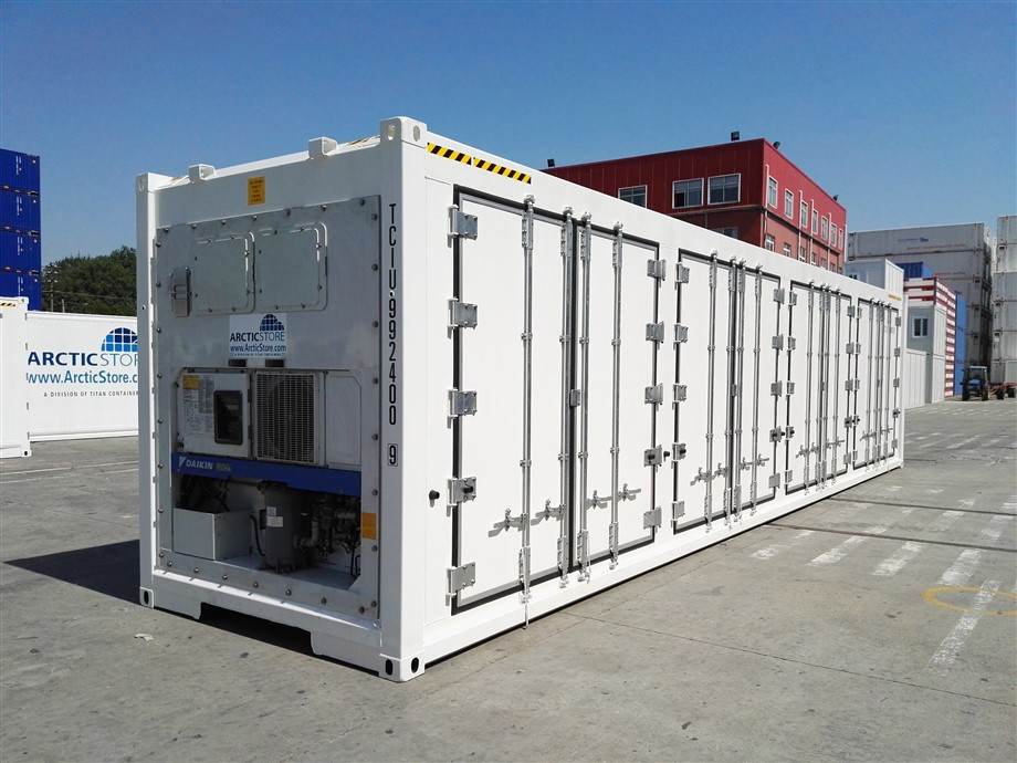 Designer reefer containers. Normal lead-time of 16-18 weeks from order