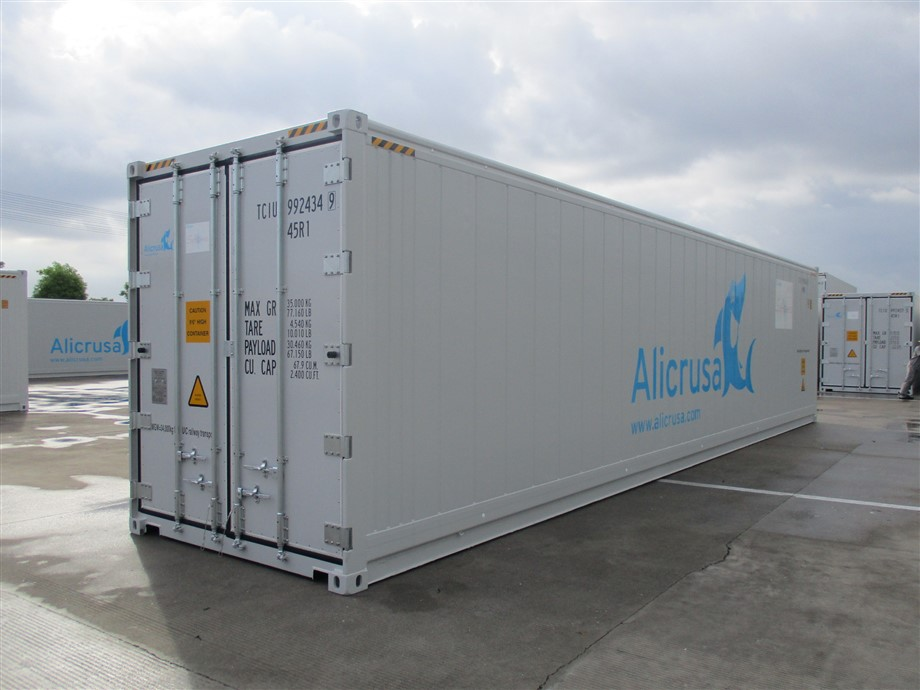 "<a href=""/gl/new-refrigerated-cold-storage-containers-hire-sale/refrigerated-shipping-container""><b>New standard 40' HC reefer container supplied by TITAN<br>➔  PRODUCT DETAILS</b></a>"