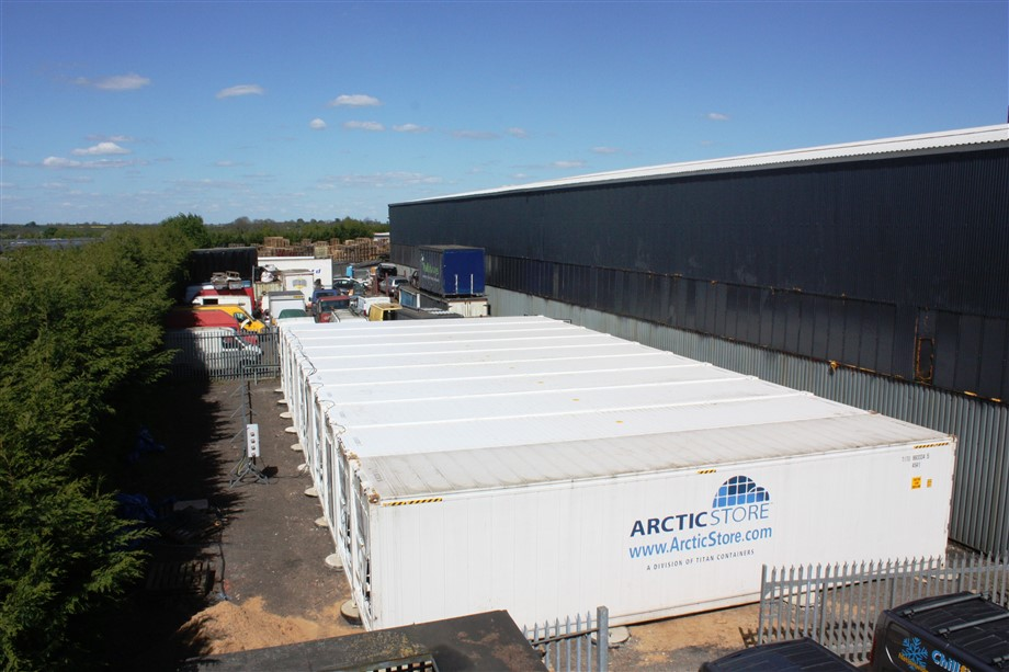 225m² Arctic SuperStore at a UK food processing company - read more on our Arctic SuperStore modular cold rooms.