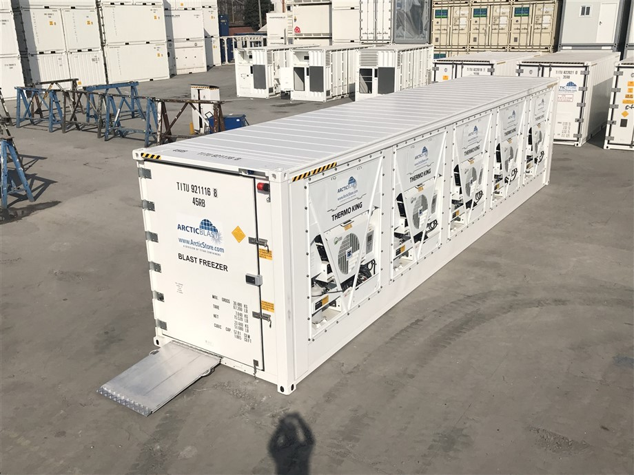 "<A HREF=""/gb/hire-and-sale-of-refrigerated-storage-containers/rapid-chill-blast-freezer""><b>40' ArcticBlast 5 - 20.000m³ air circulation per hour<BR> ➔  PRODUCT DETAILS</b></A>"